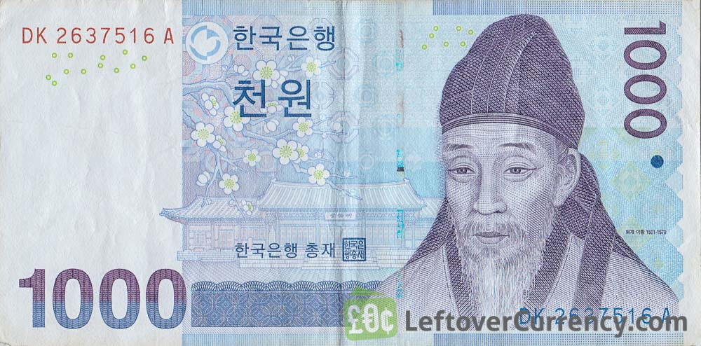 1000 South Korean won banknote (2007 issue)