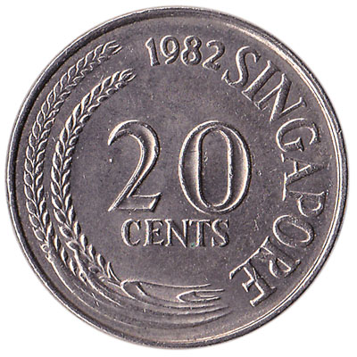 20 Cents coin Singapore (First series)