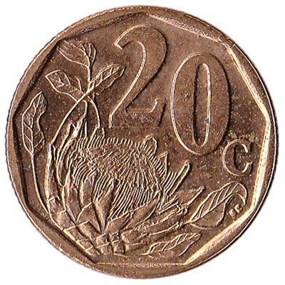 20 cents coin South Africa