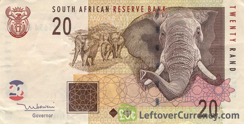 20 South African Rand banknote (Elephant type 2005)