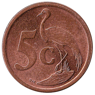 5 cents coin South Africa