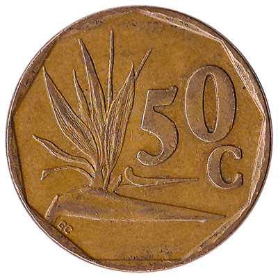 50 cents coin South Africa