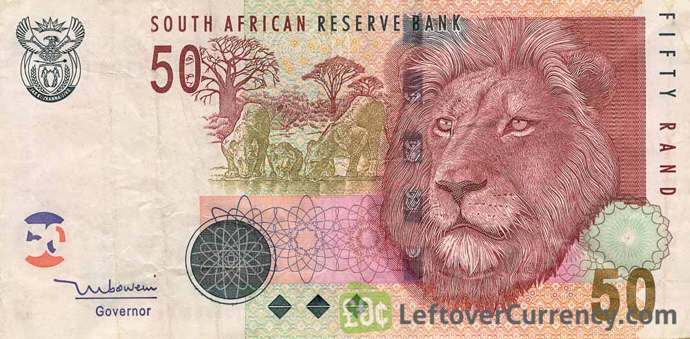 50 South African Rand banknote (Lion type 2005)