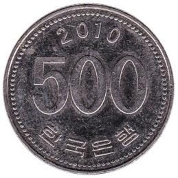 500 South Korean won coin