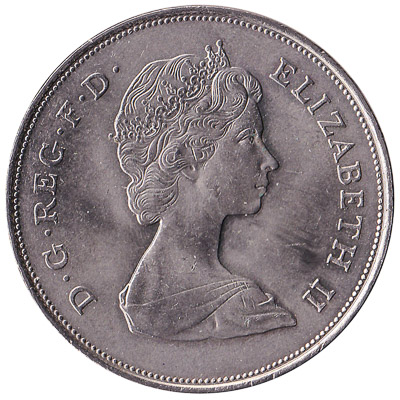 British Crown coin Charles and Diana royal wedding (1981)