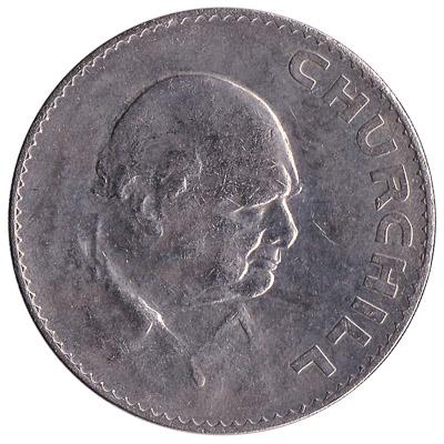 British Crown coin Churchill (1965)