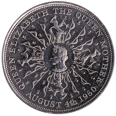 British Crown coin Queen Mother 80th birthday (1980)