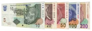 withdrawn South African rand banknotes accepted for exchange