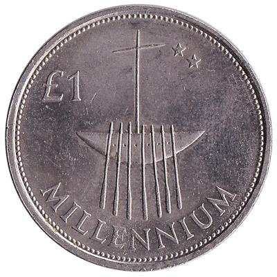 1 Irish Pound coin Millennium