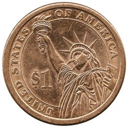 1 United States Presidential Dollar coin (Statue of Liberty)