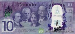 10 Canadian Dollars commemorative banknote 2017 (150th anniversary of Confederation)