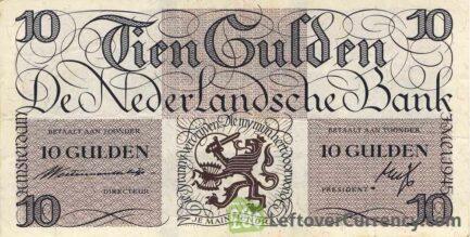 10 Dutch Guilders banknote (Lieftincktientje)