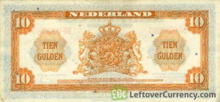 10 Dutch Guilders banknote (Muntbiljet 1943)