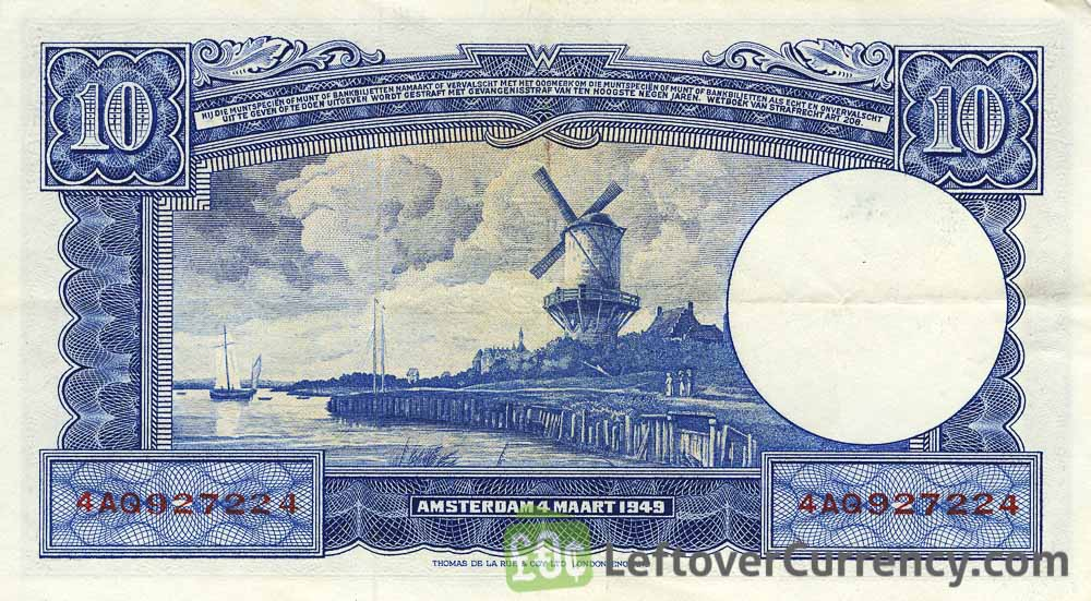 10 Dutch Guilders banknote (Willem I)