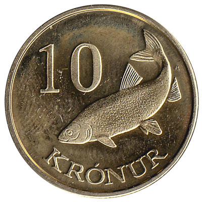 10 Faroese Kronur coin