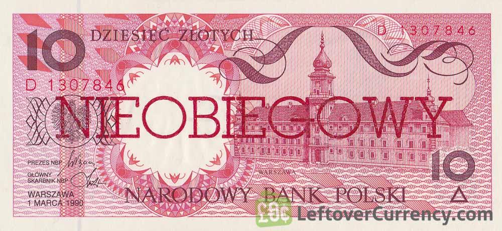 10 Polish Zlotych banknote (Nieobiegowy)