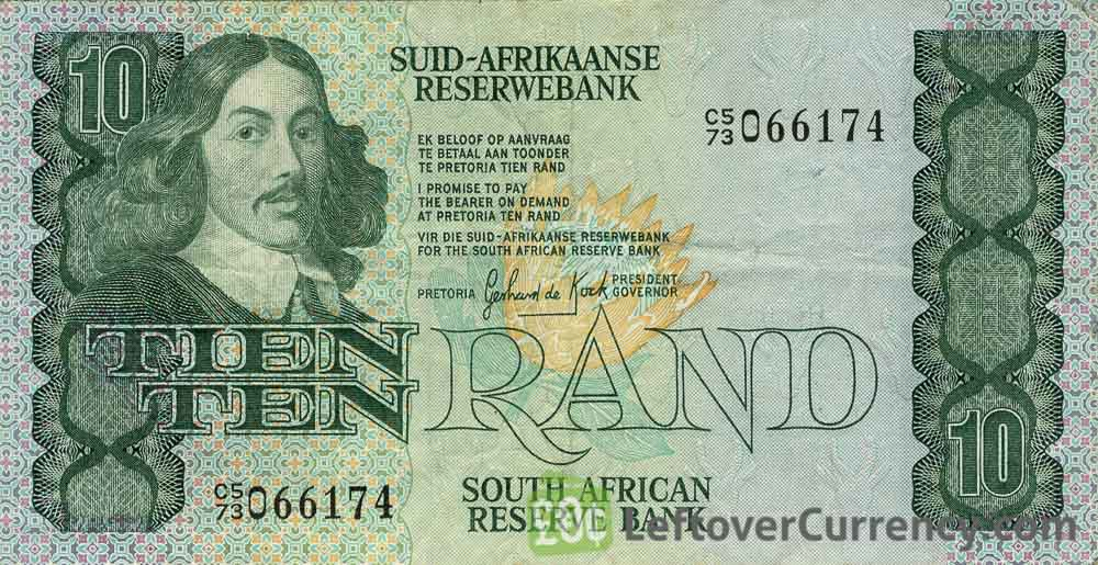10 South African Rand banknote (van Riebeeck 1978 Issue)