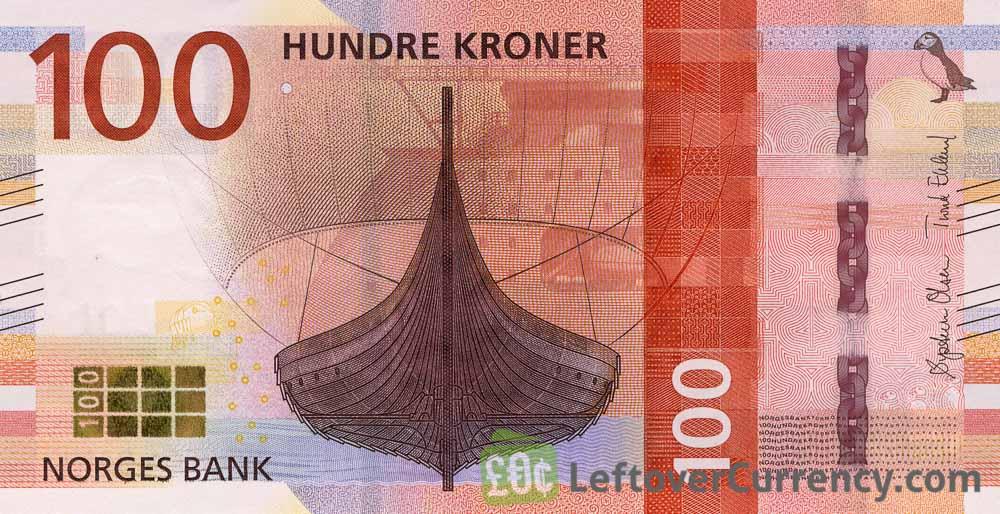 100 Norwegian Kroner banknote (Gokstad Ship)