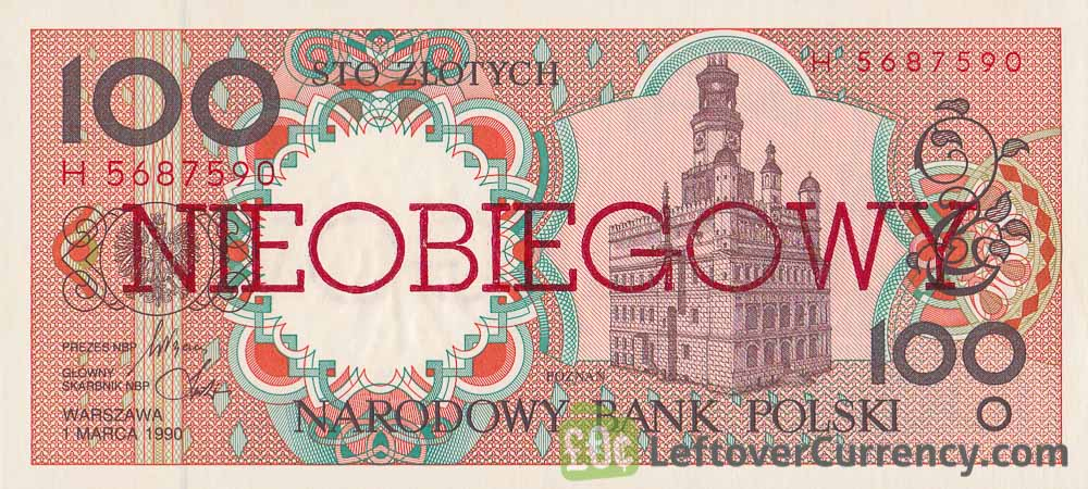 100 Polish Zlotych banknote (Nieobiegowy)