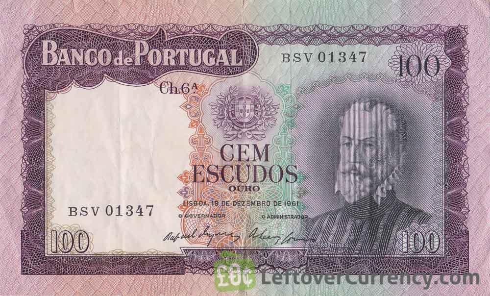 100 Portuguese Escudos banknote (Pedro Nunes)