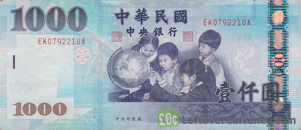 1000 New Taiwan Dollar banknote
