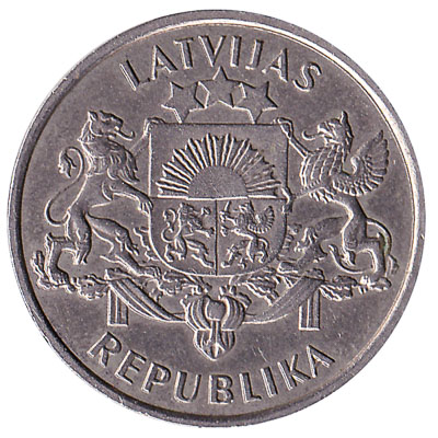 2 Lati coin (Proclamation of the Republic of Latvia)