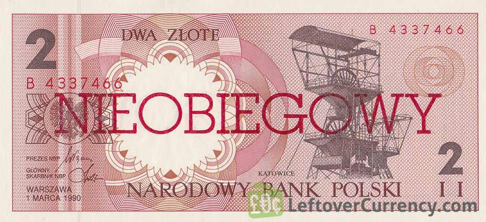 2 Polish Zlote banknote (Nieobiegowy)