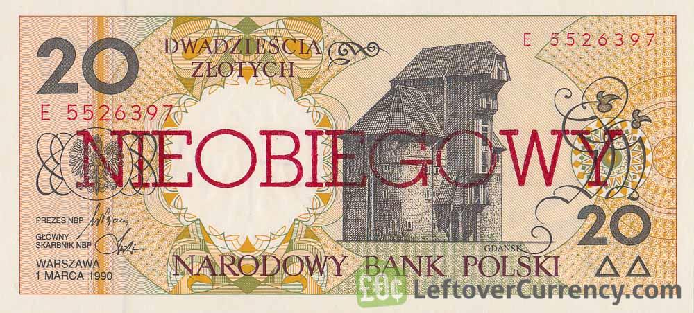 20 Polish Zlotych banknote (Nieobiegowy)