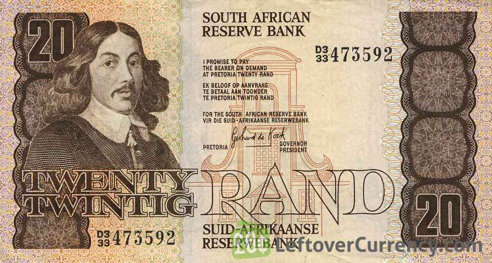 20 South African Rand banknote (van Riebeeck 1984 Issue)