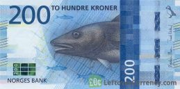 200 Norwegian Kroner banknote (Cod and Herring)