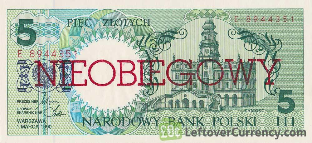 5 Polish Zlotych banknote (Nieobiegowy)