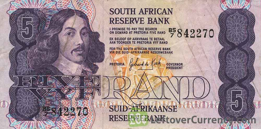 5 South African Rand banknote (van Riebeeck 1978 Issue)