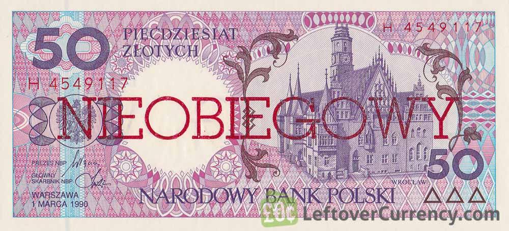 50 Polish Zlotych banknote (Nieobiegowy)