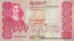 50 South African Rand banknote (van Riebeeck 1984 Issue)