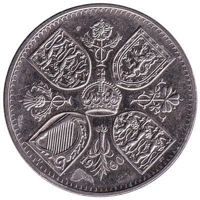 British Crown coin New York Exhibition (1960)