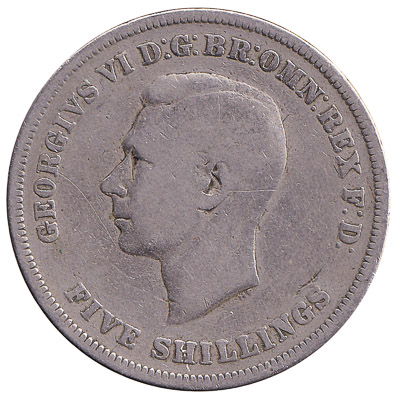 British Five Shillings coin Festival of Britain Crown (1951)