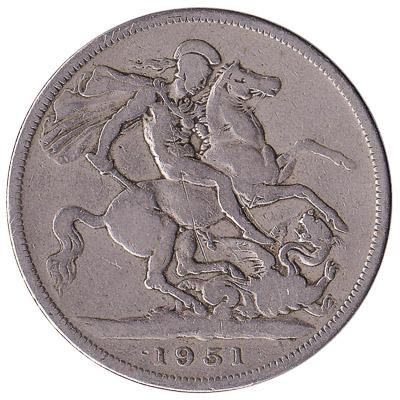 British Five Shillings coin Festival of Britain Crown (1951)