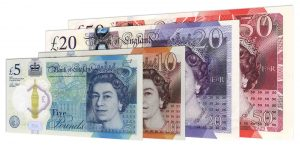 current Bank of England banknotes accepted for exchange