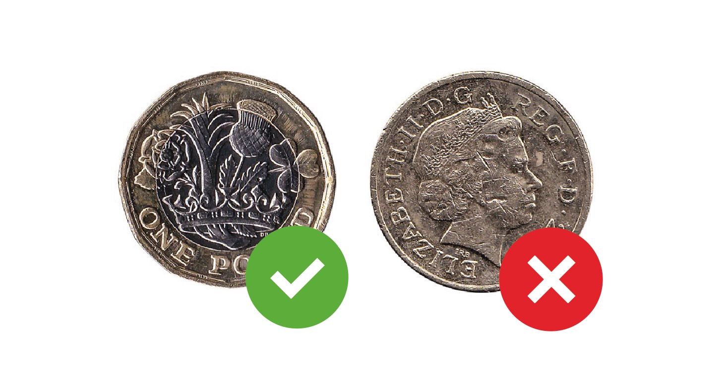 old £1 pound coin changeover