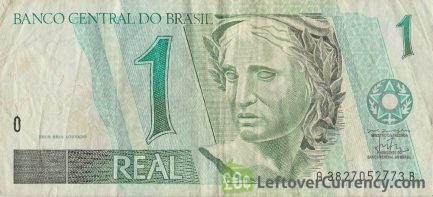 1 Brazilian Real banknote