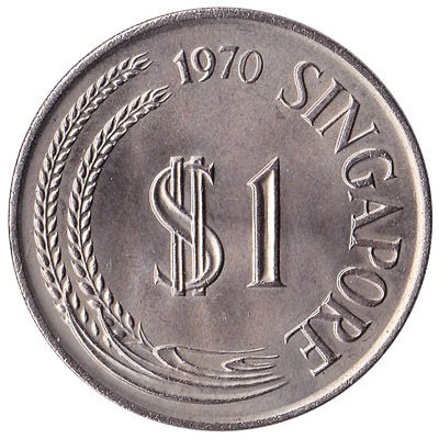 1 dollar coin Singapore (First series)