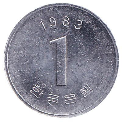 1 South Korean won coin