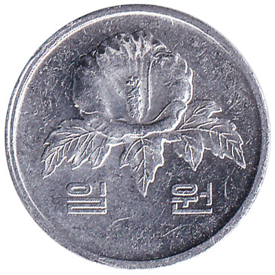 1 South Korean won coin