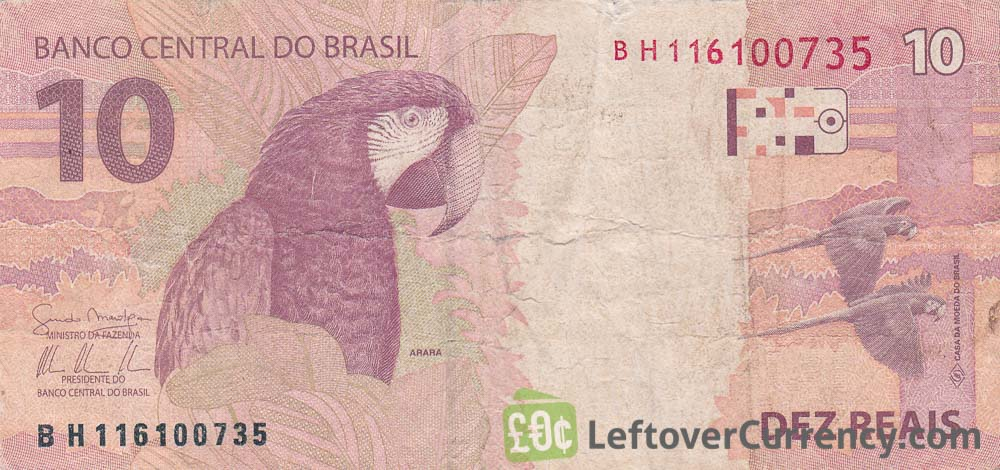 10 Brazilian Reais banknote (2010 issue)