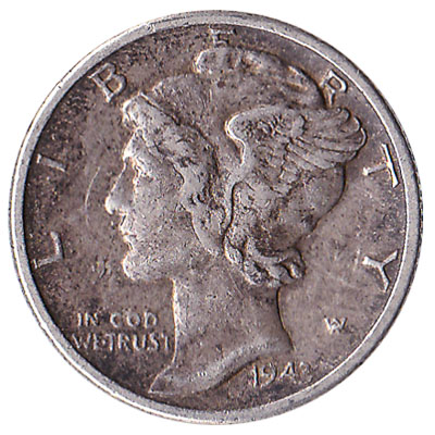 10 cents coin Mercury Dime