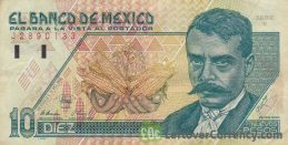10 Mexican Pesos banknote (Series D)
