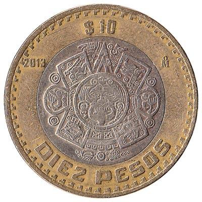 10 Mexican Pesos coin