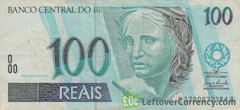 100 Brazilian Reais banknote obverse accepted for exchange