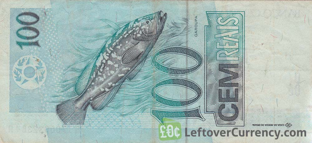 100 Brazilian Reais banknote reverse accepted for exchange