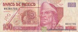 100 Mexican Pesos banknote (Series D)